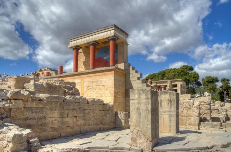 Knossos palace in Heraklion